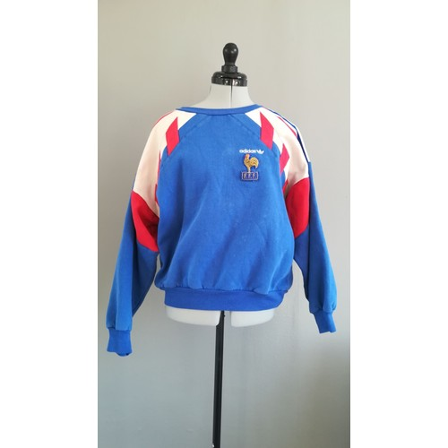 Maillot Football Vintage Collection FRANCE 1990-1992 Taille  S Adidas 6dc881759c87