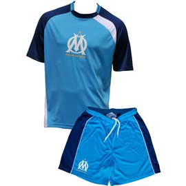 72ccf87009c2 Maillot + Short Om - Collection Officielle Olympique De Marseille - Ensemble  Football Ligue 1 - Taille Enfant Garçon