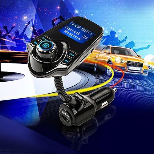 main libre t10 transmetteur fm voiture bluetooth sans fil lecteur mp3 usb sd lcd modulateur. Black Bedroom Furniture Sets. Home Design Ideas
