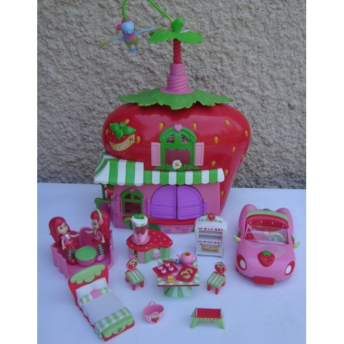 Maison fraisi charlotte aux fraises meubl e 2 poup es for Maison de charlotte aux fraises