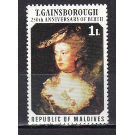 Maldives 1977 : Anniversaire De Naissance De Peintres C�l�bres : 250� De Thomas Gainsborough - Timbre Neuf **