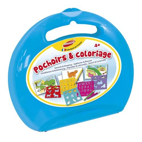 Mallette Ronde 8 Pochoirs Et Crayons 1146399771 L
