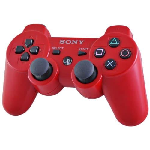 sony dualshock 3 sixaxis rouge manette sans fil officielle pour playstation 3. Black Bedroom Furniture Sets. Home Design Ideas