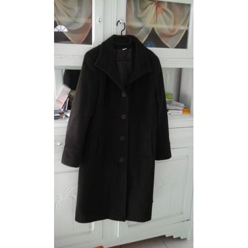 manteau 3 suisses manteau long laine xl marron achat et. Black Bedroom Furniture Sets. Home Design Ideas