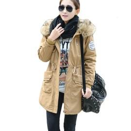 Manteau hiver femme noir fourrure