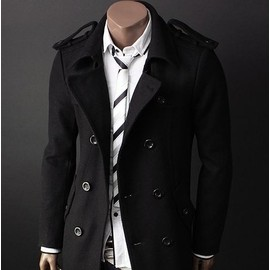 manteau caban duffle coat veste homme noir fashion. Black Bedroom Furniture Sets. Home Design Ideas