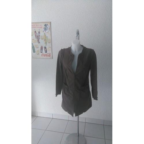 Manteau comptoir des cotonniers coton 38 marron achat et - Code avantage comptoir des cotonniers ...
