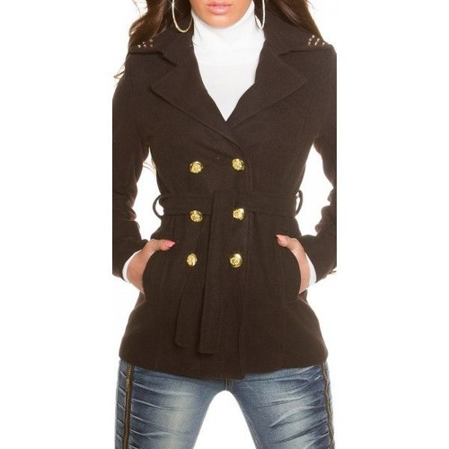 manteau court femme pas cher noir achat et vente. Black Bedroom Furniture Sets. Home Design Ideas