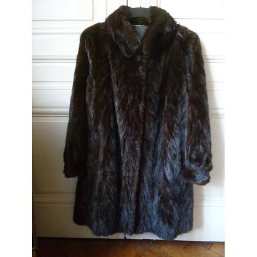 manteau de fourrure vison femelle taille 40 achat et vente. Black Bedroom Furniture Sets. Home Design Ideas