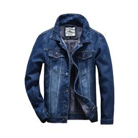 Homme Bleu Manteau Hommes Jean Zs350367 Denim Blouson De En Décontractée Revers Veste Vêtement Épaississant Slim Chaud EE6TrAqWY