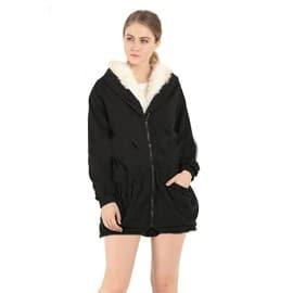 Manteau Femme De Col En Fausse Fourrure Parka Femme Coton A La Mode Garder  Au Chaud ... 8ab9bbe39c62