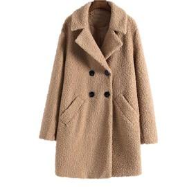 Manteau femme double mouton