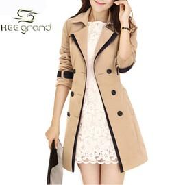 Manteau hee grand femme manteau de trench coupe vent a bouton pour printemps automne - Manteau coupe masculine pour femme ...