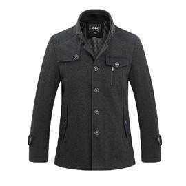 manteau homme caban homme automne hiver manteau en laine trench homme duffle coat manteau d. Black Bedroom Furniture Sets. Home Design Ideas