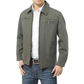 Coton Homme Unie Hommes Mode Couleur La Blouson Pour Manteau En A 7RqwwT