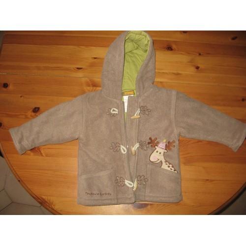 manteau neuf duffle coat veste capuche fermeture zip marron camel pour b b enfant fille ou. Black Bedroom Furniture Sets. Home Design Ideas