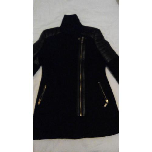 manteau vera lucy cuir 14 ans noir achat et vente. Black Bedroom Furniture Sets. Home Design Ideas