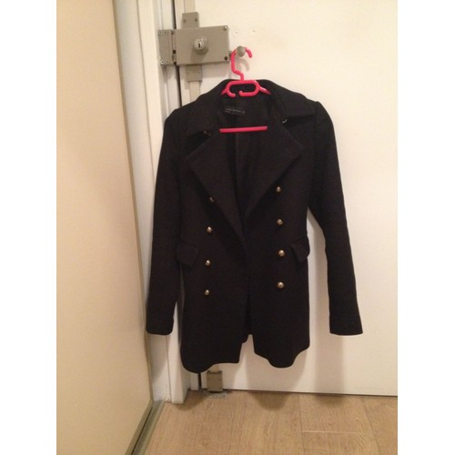 manteau zara noir xs achat vente de pr t porter priceminister rakuten. Black Bedroom Furniture Sets. Home Design Ideas