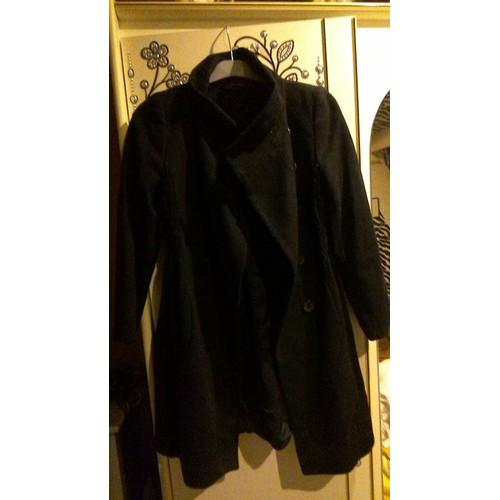 manteau zara polyester m noir achat et vente. Black Bedroom Furniture Sets. Home Design Ideas