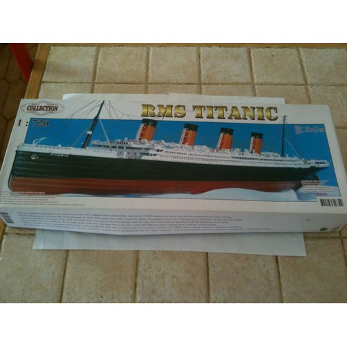 maquette rms titanic 1 720 avec moteur top imex neuf et d 39 occasion. Black Bedroom Furniture Sets. Home Design Ideas