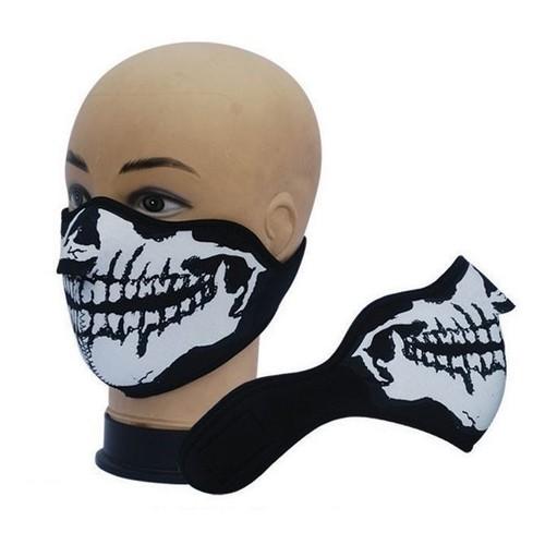 masque cagoule tour de cou protection en neoprene ghost tete de mort airsoft paintball. Black Bedroom Furniture Sets. Home Design Ideas