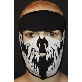masque cagoule tour de cou protection en neoprene style ghost tete de mort mask airsoft. Black Bedroom Furniture Sets. Home Design Ideas
