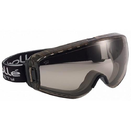 79466d42561ea6 Masque De Protection Bolle Pilot Ii 2 Noir Verre Fume Traitement Anti Buee  Anti Rayure Csp ...