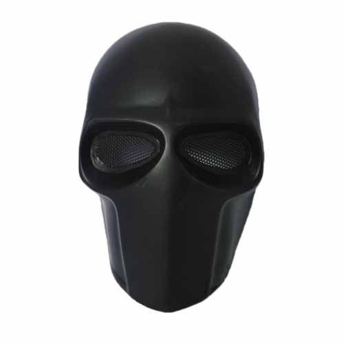 masque de protection pour airsoft paintball coloris noir en forme de t te d 39 alien mat riel. Black Bedroom Furniture Sets. Home Design Ideas