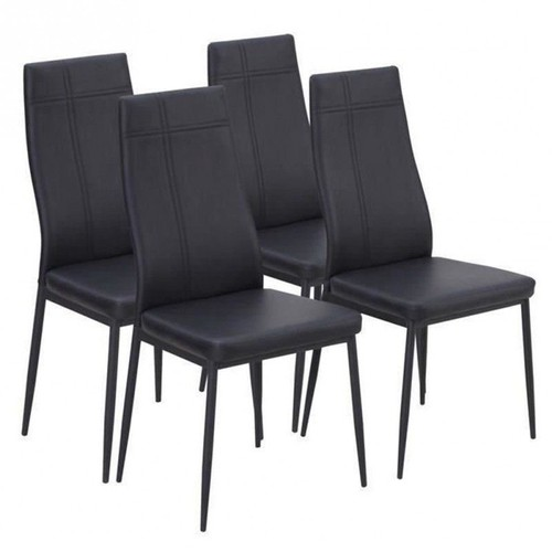 mat lot de 4 chaises de salle a manger noires achat et vente. Black Bedroom Furniture Sets. Home Design Ideas