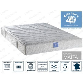matelas belle literie passion 588 ressorts ensaches 140x190 ferme 22cm. Black Bedroom Furniture Sets. Home Design Ideas