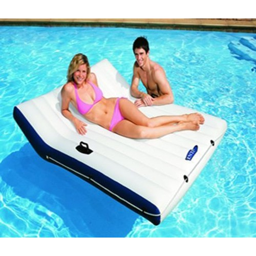 Matelas piscine luxe double intex achat et vente for Matelas piscine intex
