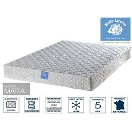 matelas rubis 20cm belle literie 336 ressorts 140x190 tonique et ferme face t hiver. Black Bedroom Furniture Sets. Home Design Ideas
