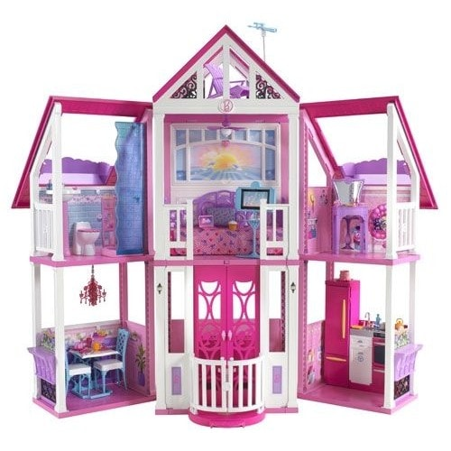 la maison de r ve de barbie malibu dreamhouse achat et vente. Black Bedroom Furniture Sets. Home Design Ideas