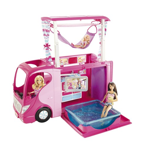 barbie camping car achat vente neuf occasion priceminister. Black Bedroom Furniture Sets. Home Design Ideas