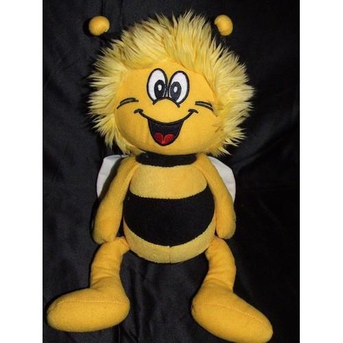 maya l 39 abeille tomy doudou peluche abeille jaune noir ray 40 cm interactive parle. Black Bedroom Furniture Sets. Home Design Ideas