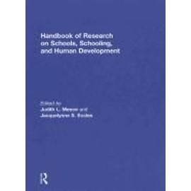 Handbook Of Research On Schools, Schooling And Human Development de Meece Judith