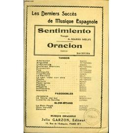 Les Derniers Succes De Musique Espagnole Sentimiento / Oracion de melfi mario a. - bachicha