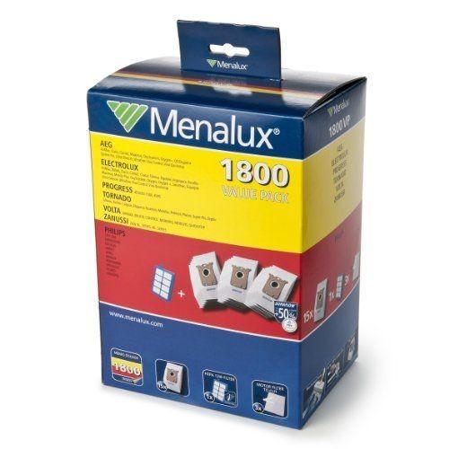 menalux 1800 vp pack de 15 sacs d 39 aspirateur filtres moteur et filtre hepa 13 lavable pour aeg. Black Bedroom Furniture Sets. Home Design Ideas