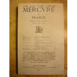 Mercure De France N� 886 - Georges Guy, Fontainas, Hardouin, Leautaud, Fleuret, Dinar, Erlande, Stoc