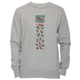 online store bfe14 1d2bd merry-christmas-reindeer-unisexe-homme-femme-sweat-shirt-jersey-pull-over- gris-toutes-les-tailles-men-39-s-women-39-s-jumper-sweatshirt-pullover-grey-all-  ...