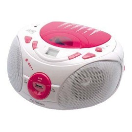 metronic radio cd mp3 pop pink boombox pas cher. Black Bedroom Furniture Sets. Home Design Ideas