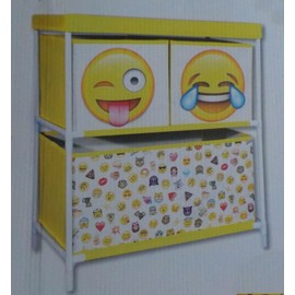meuble de rangement pour jouet ou vetement decoration smiley emoticones jeu enfant chambre tissu. Black Bedroom Furniture Sets. Home Design Ideas