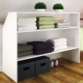 meuble de rangement sous combles coloris blanc achat et vente. Black Bedroom Furniture Sets. Home Design Ideas