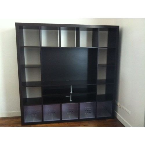 meuble ikea expedit noir bon etat pas cher priceminister. Black Bedroom Furniture Sets. Home Design Ideas