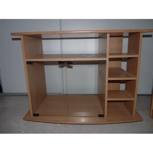 meuble pour tv avec rangement pour cha ne hifi achat et vente. Black Bedroom Furniture Sets. Home Design Ideas