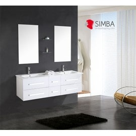 meuble salle de bain double vasque luxe beau meuble double vasque 150 cm blanc. Black Bedroom Furniture Sets. Home Design Ideas