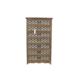 meuble semainier chiffonnier grainetier bois 7 tiroirs 64x325x1125cm