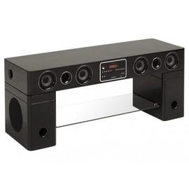 meuble tv home cin ma int gr watts ii bluetooth noir. Black Bedroom Furniture Sets. Home Design Ideas