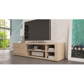 meuble tv ivo ch ne clair marron achat et vente. Black Bedroom Furniture Sets. Home Design Ideas