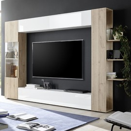 Fino Mural Chêne Achat 3 Vente Meuble Blanc Et Moderne Tv Zuvgqsmp L3AR54jq